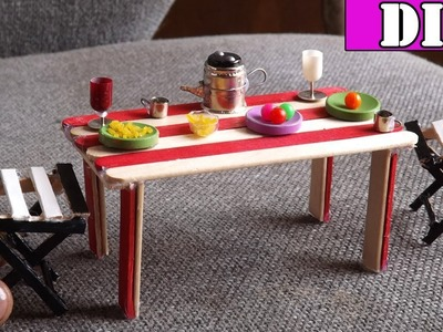 Dining Table and Chairs DIY   Easy Miniature Furniture Crafts 2017