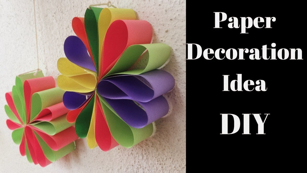Diwali decoration ideas diwali decoration paper craft for Art and craft for diwali decoration