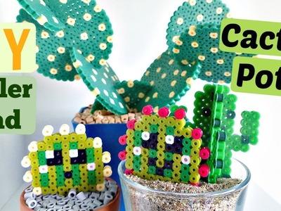 DIY Artkal.Perler Bead Cactus Pots and Coasters