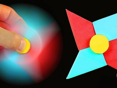 DIY Cara membuat Origami Fidget Spinner (How To Make A Paper Fidget Spinner WITHOUT BEARINGS)