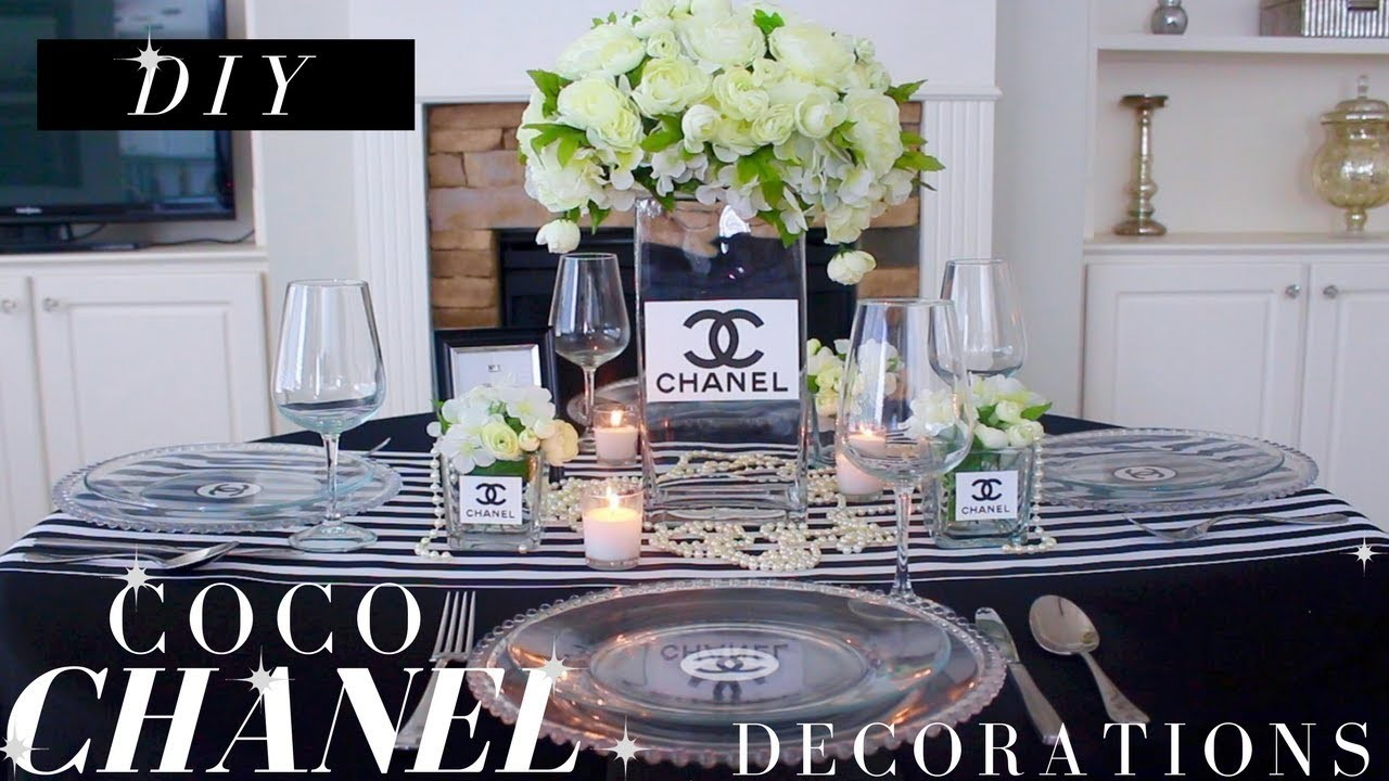 Diy chanel decor diy chanel party decorations birthday for Baby shower decoration store