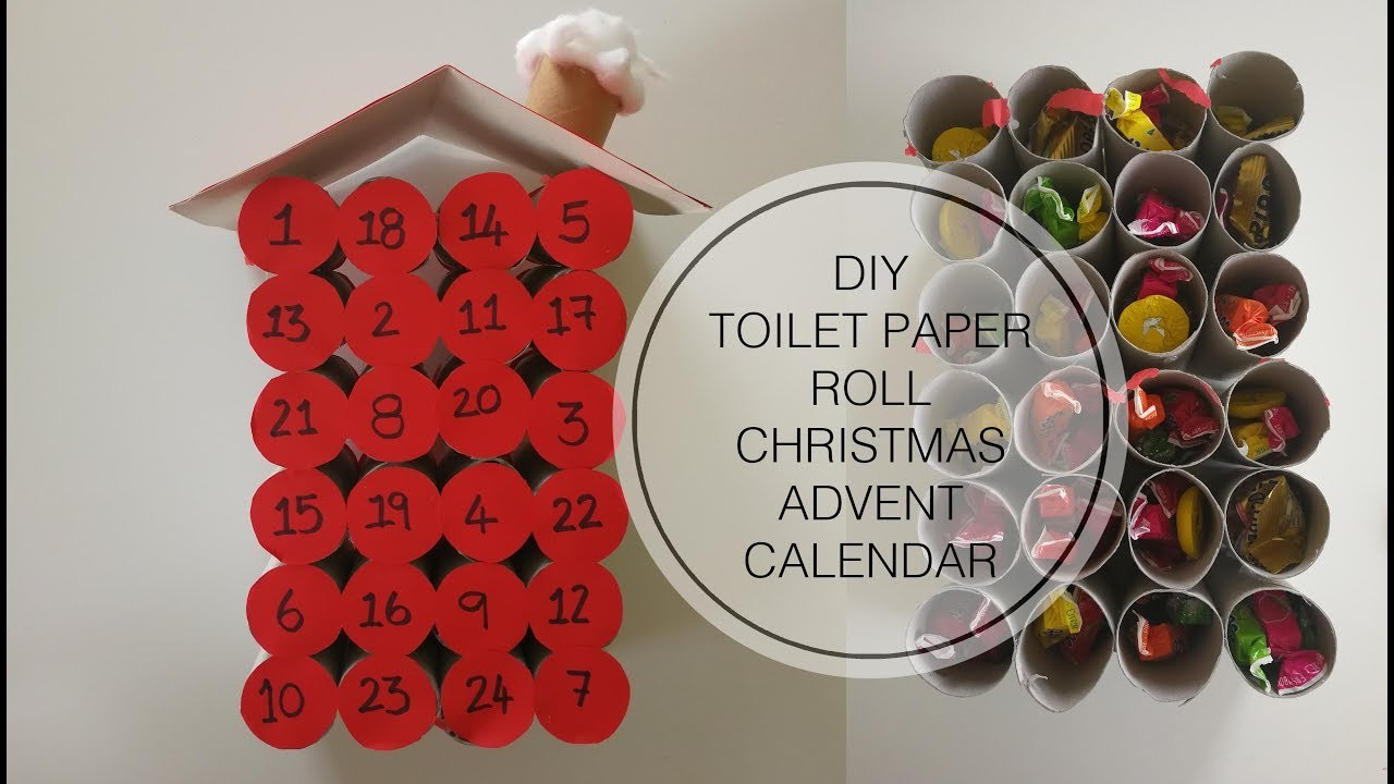 craft ideas using empty toilet paper rolls diy chistmas advent calendar made from empty toilet paper 8046