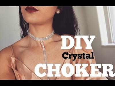 DIY Crystal Choker Necklace