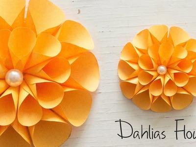 DIY: Dahlias Flowers!