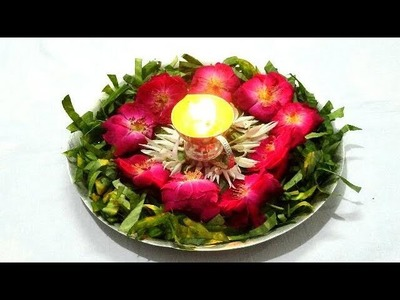 DIY Decorative Pooja Thali. How to Make Pooja Thali. Arti Thali Decoration. making Pooja Thali