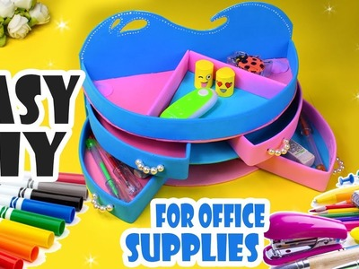 DIY DESK ORGANIZER WITH SLIDE LAYER  BOXES CUTE & GIRLY