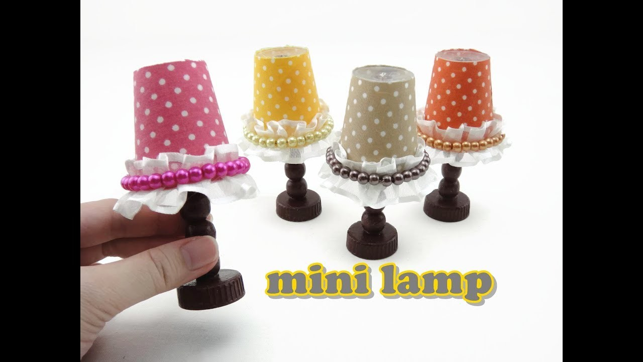 Diy Doll Accessories Mini Lamp Easy My Crafts And Diy