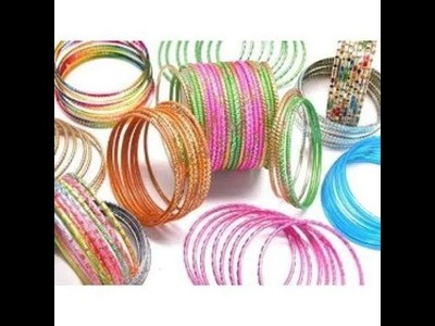 Diy from waste bangles.best out of waste.broken bangles crafts