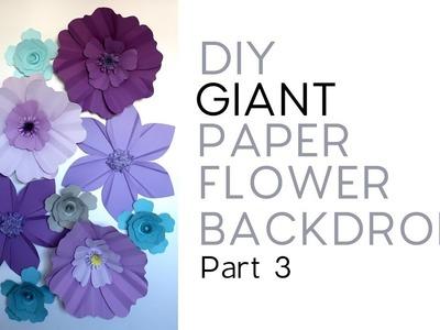 DIY Giant Paper Flower Backdrop - Part 3.3