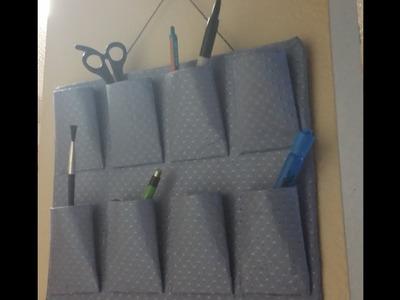 DIY Hanging Organizer Using Toilet Paper Rolls