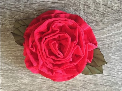 DIY How to Make a Beautiful Fabric Flower