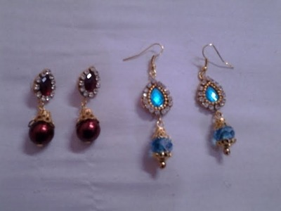 DIY   How to make beautiful earrings at home