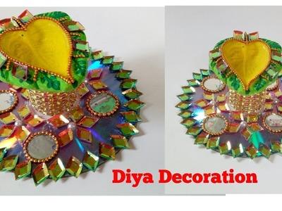 DIY : How to make Diya stand at Home | Diya Decoration 2017 | Easy Diy