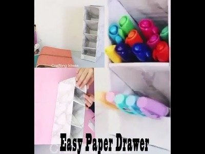 Diy | How to make paper drawer organizer