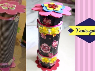 DIY Jewellery box with Pringles can - Recycled crafts from pringles cans