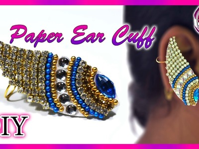 DIY : Paper Ear Cuff | Earring | Paper Jewelry | Art with Creativity 256