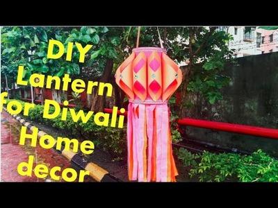 DIY Paper Lantern.Kandil for Diwali Home Decor || Diwali Crafts