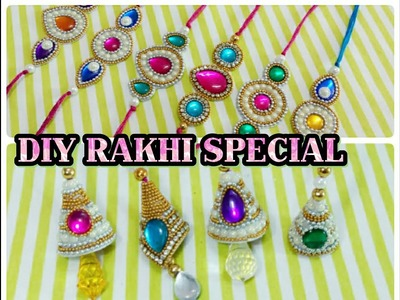 DIY RAKHI AND LUMBA MAKING AT HOME.RAKHI SPECIAL