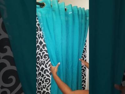 Diy shower curtain decor drapery look part 2