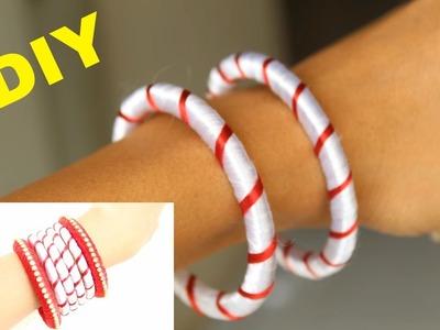 DIY Silk Thread Fancy Bangles Making