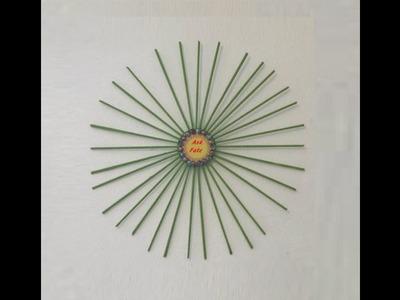 DIY - Sunburst Recycled Old Magazines Wall Art - Video Clip #14