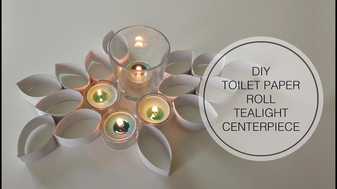 Diy toilet paper roll tea light centerpiece for Design your own toilet paper
