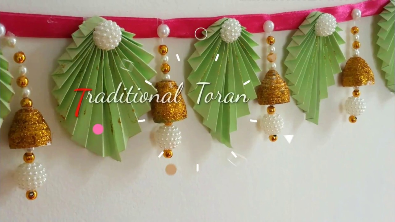 Diy Trendy Toran Door Hangings With Paper At Home Diwali Decoration Ideas 2 Bandhanwar Ideas My