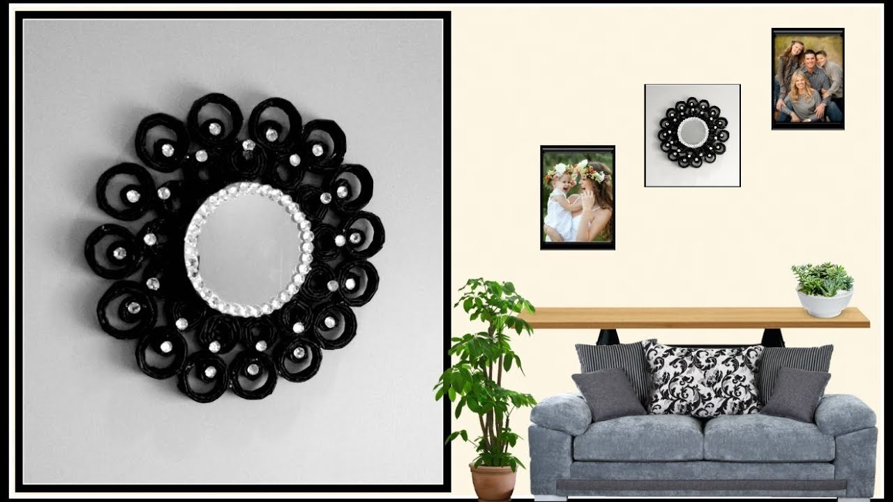 Wall Decoration Using Bangles : Diy wall decoration idea decor using newspaper my