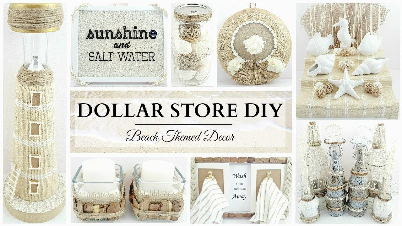 dollar store diys 10 neutral beach themed decor crafts. Black Bedroom Furniture Sets. Home Design Ideas