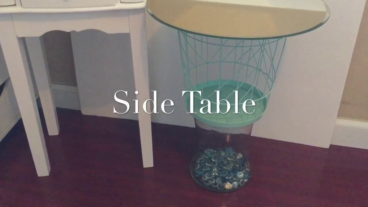 Dollar tree diy side table my crafts and diy projects for Diy tree table