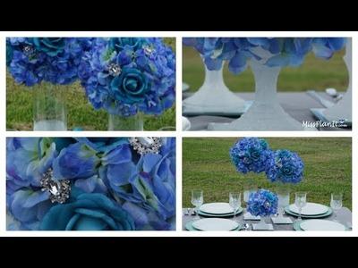Dollar Tree Inspired Glitz Wedding Centerpiece.  DIY.  How to Create This Dollar Tree  Wedding Cen