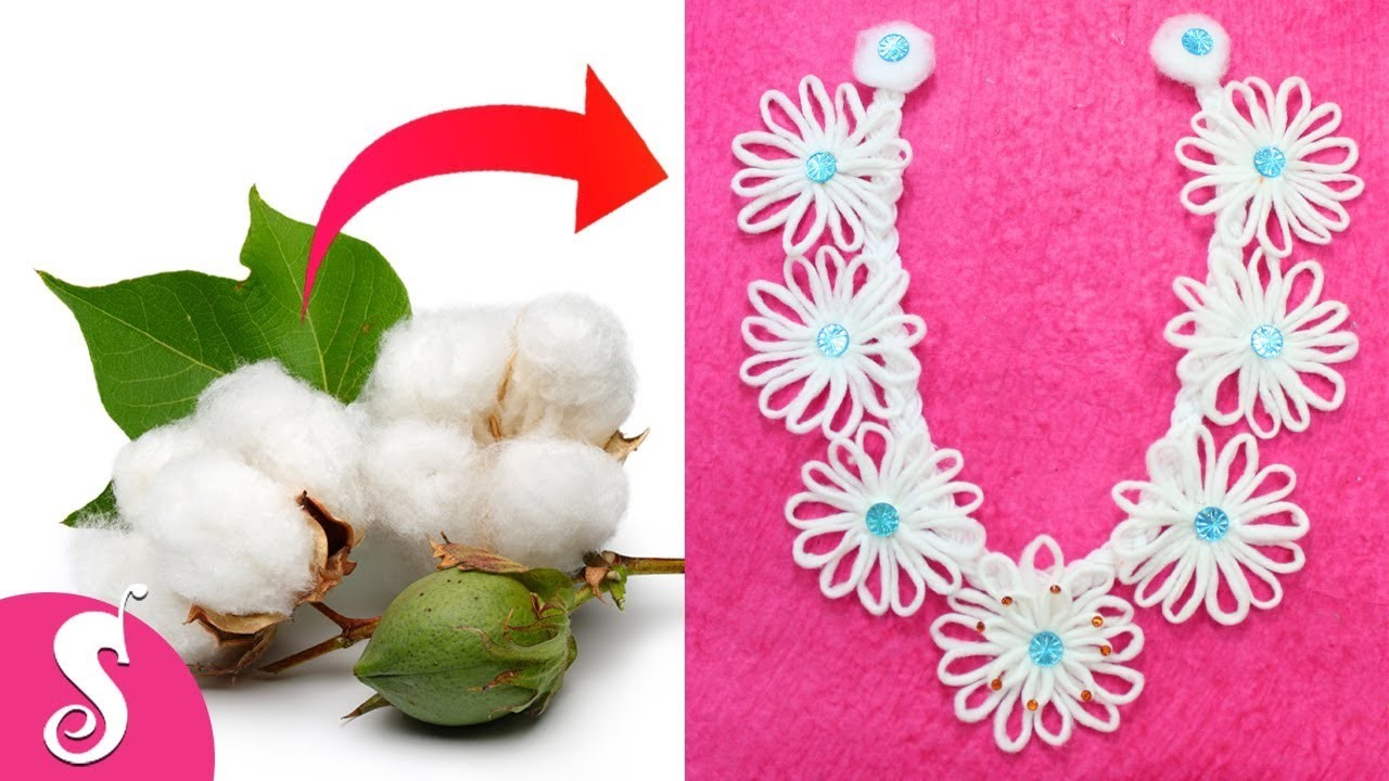 Easy & Awesome COTTON GARLAND for Ganesh Festival at Home-DIY Cotton craft Idea