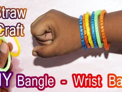 Easy Craft using Straw - Wrist band Craft - Bangle Hand made - DIY Craft