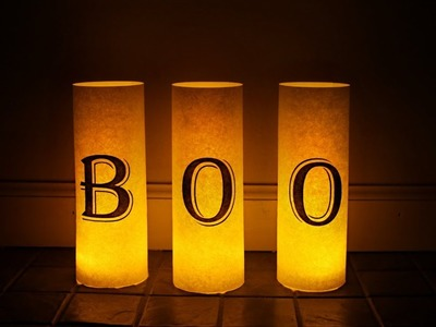 Easy Halloween Luminaries - DIY Halloween Crafts