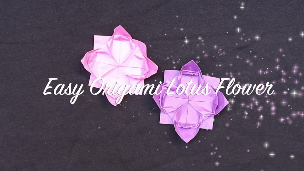 Easy Origami Flower For Beginners Origami Lotus Flower Easy