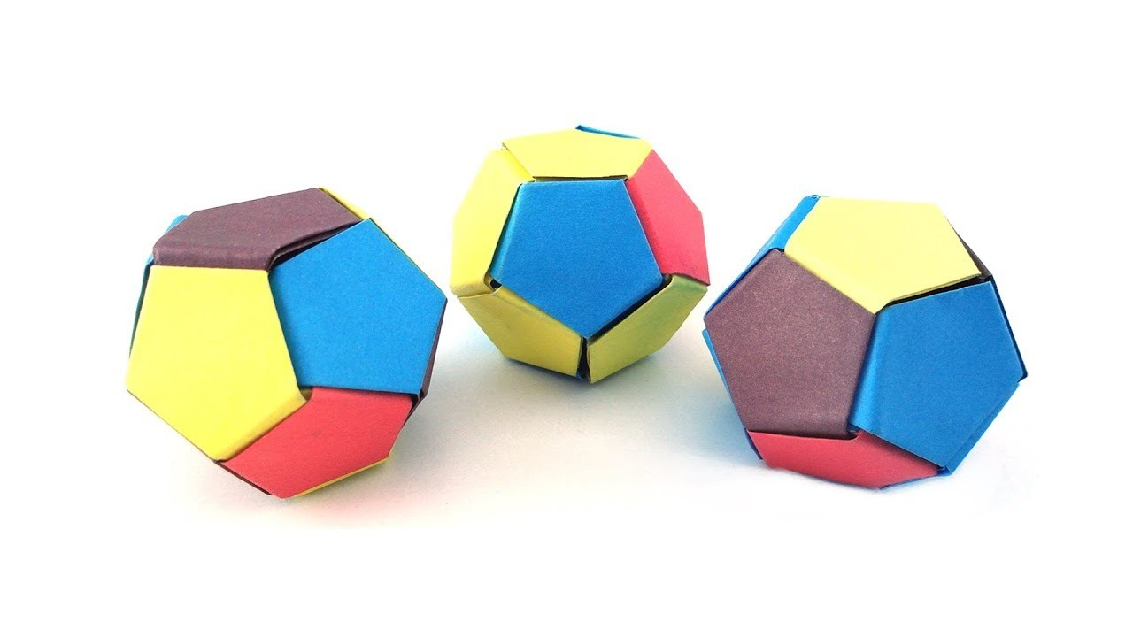 easy origami paper 3d soccer ball my crafts and diy projects