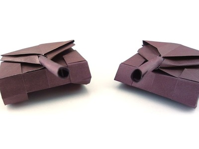 How to fold an origami paper tank | Needlepointers.com | 300x400