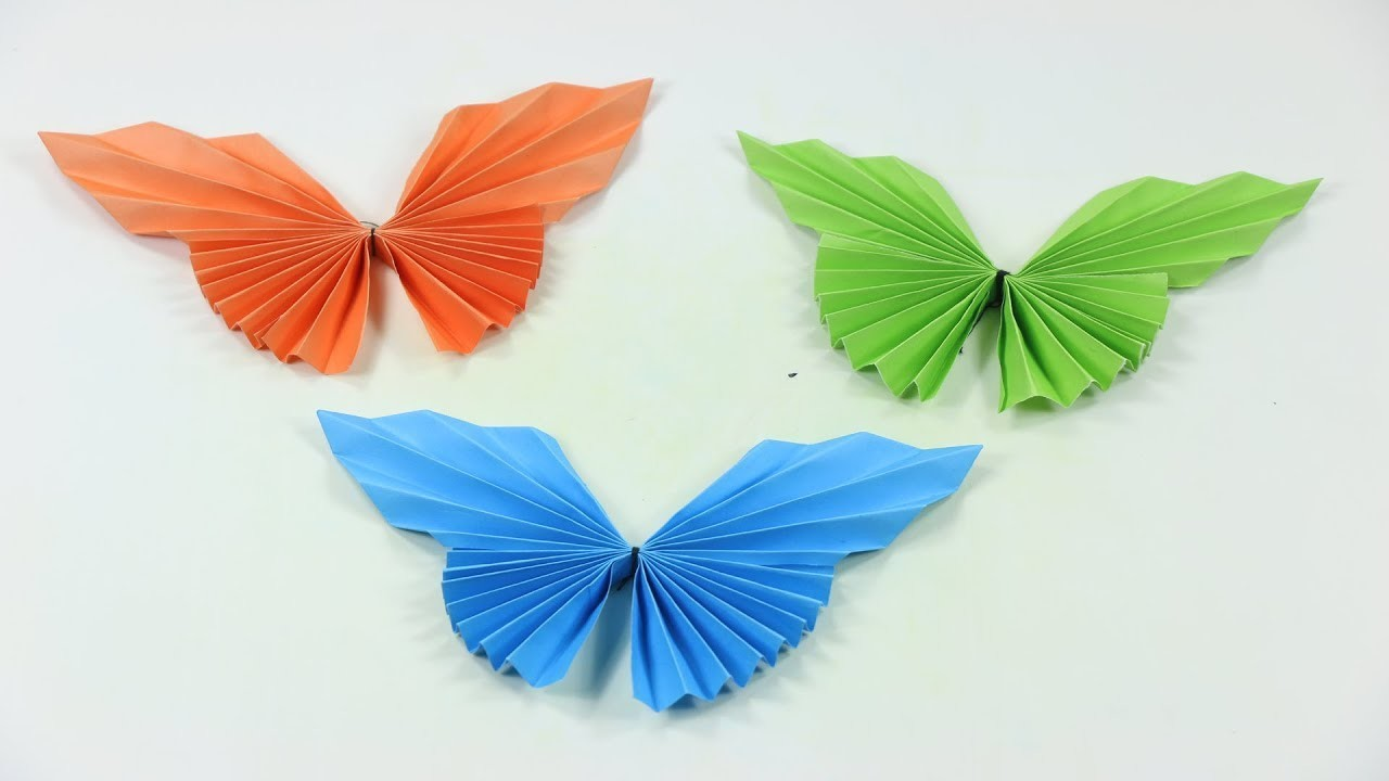 butterfly easy paper butterfly origamicute amp easy