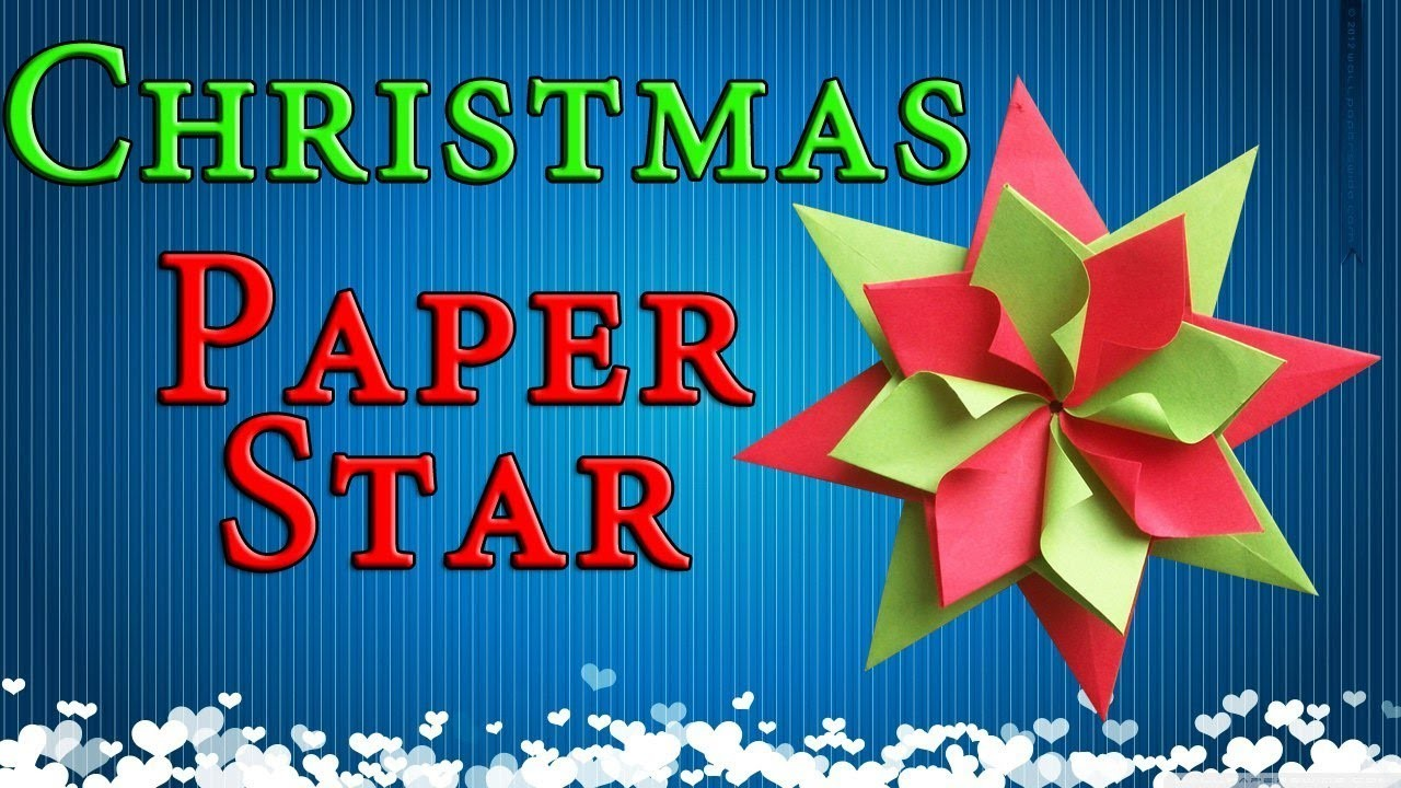 Easy paper christmas decorations origami star new year for Star decorations for home