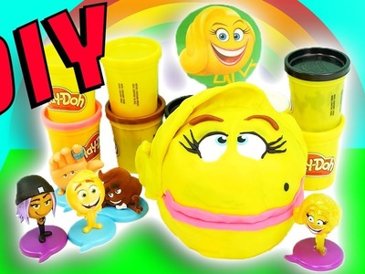 Emoji Movie Drill N Fill Smiler DIY Crafts For Kids! Learn Colors Play-Doh How To Video