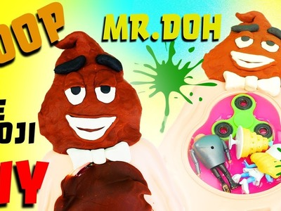 Emoji Movie Mr Doh Poo DIY Crafts For Kids! Learn Colors Play-Doh How To Video!