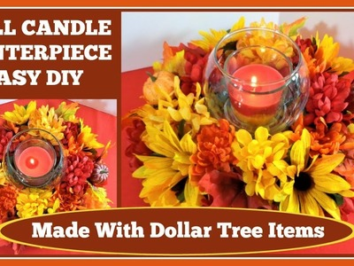 ????Fall Candle Centerpiece ????Easy DIY