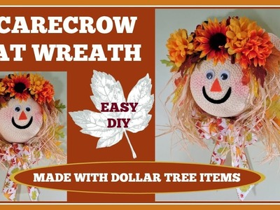 ????Fall Scarecrow Hat Wreath????. Easy DIY for Fall Decorating????
