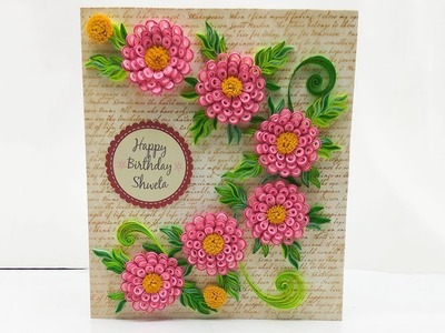 Greeting Card With Quilled Flowers | Magic Quill