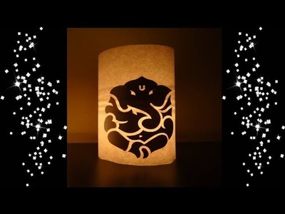 Home Diwali Decorative ideas Lord Ganesha Candle Paper Crafts. 5 Minutes DIY Home Decor ideas Easy