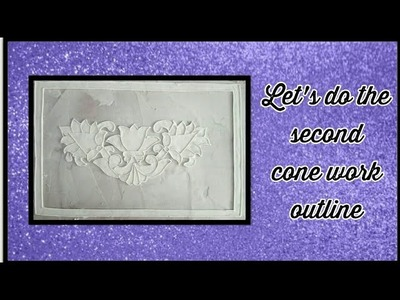 How to do Relief Work Paintings-Lets do the cone work for second outline