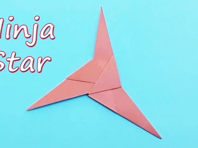How to make a 3 bladed Paper Ninja Star - Best Origami Tutorial on making Ninja Star