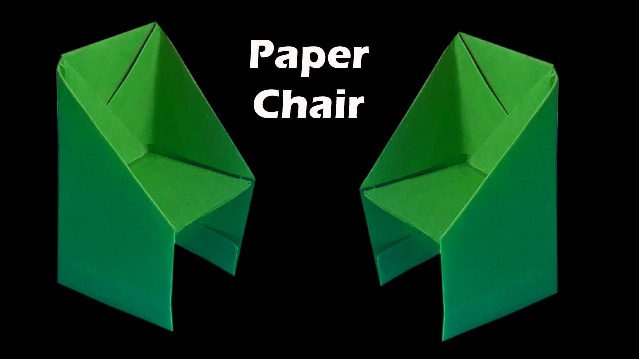 how to make chair with paper