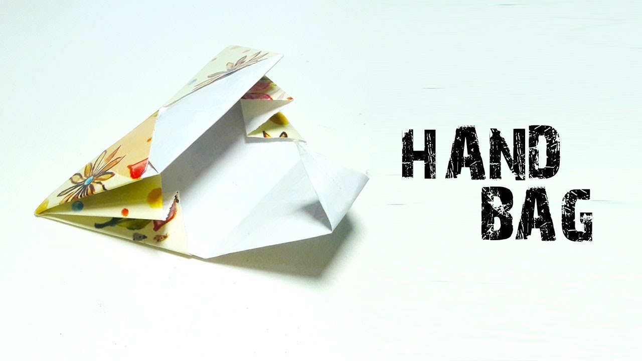 how to make origami paper bag