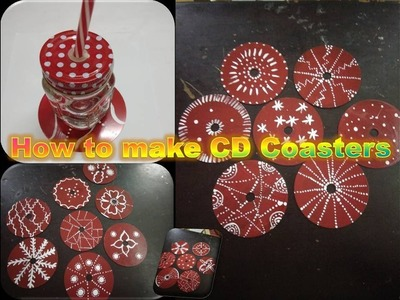 How to make Coasters using waste CD's.DIY Coasters. Coffee table decorations